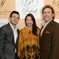 1 Anas Ahmed, from left, Sameera Faridi and Jared Lang at the Sameera Faridi Grand Opening February 2015