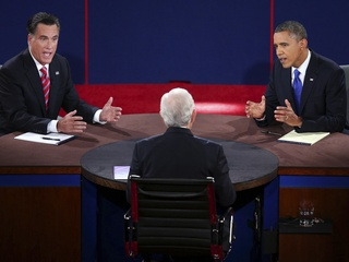 presidential debate, Mitt Romney, Barack Obama, October 2012