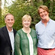 Jack and Leslie Blanton, from left, with George Lancaster at M.D. Anderson in Aspen July 201