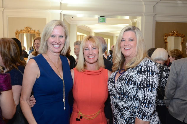The Center luncheon, Feb. 2016, Pam Lewis, Christy Galtney, Tricia Streitmann