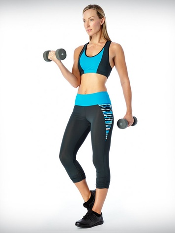 Warrior Elements, Water Crossback Bra, Inset Leggings