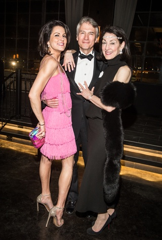 Jessica Rossman, left, with Sanford and Susie Criner at the Stages Repertory Theatre Gala April 2015 FULTON