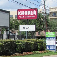 Khyber North Indian Grill exterior day sign
