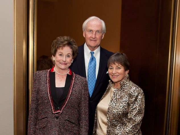 14 Ann Trammell, left, with John and Diane Riley at the MFAH opening reception for American Adversaries October 2013
