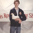 Marshall Hinsley showing a chicken at a stock show