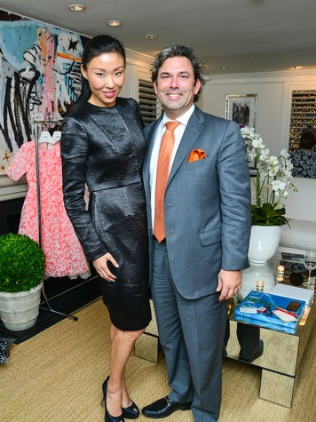 38 Neal Hamil Model Yuan Yuan Zhang and Jared Lang at the Baanou trunk show December 2013