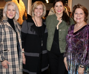 Susan Sanders, Kathy Adams, Kristy Adams, Myra Walker, Downton Tea Kathy  Adams