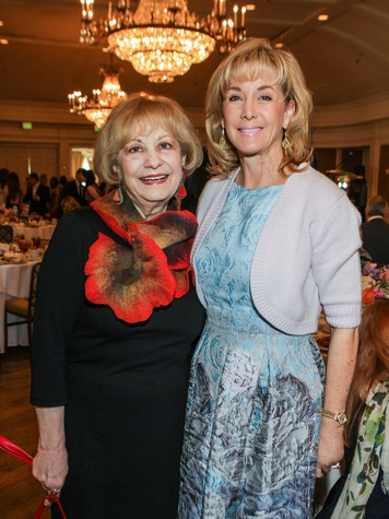 Kay King, left, and Sheridan Williams at the Passion for Fashion luncheon March 2014