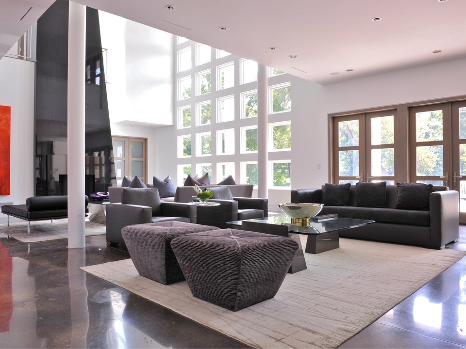 Living room designed by Key Residential in Dallas