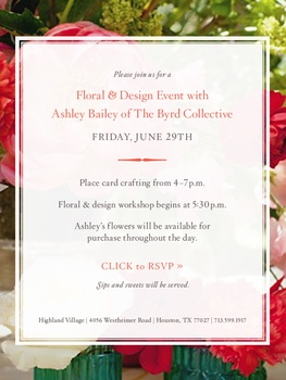 Floral & Design Event with Ashley Bailey of The Byrd Collective