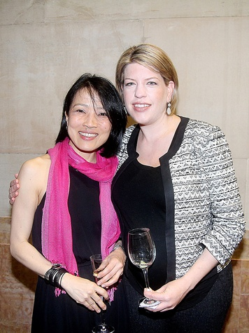 Chinhui Allen, left, and Leah Barton at the Da Camera Gala April 2014
