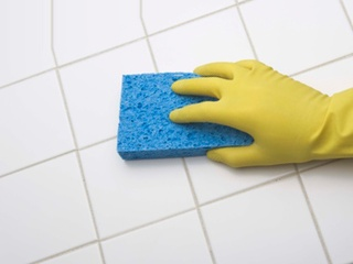 Clean with bleach to disinfect home after flooding