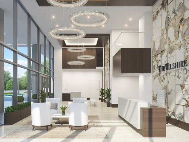 The Wilshire River Oaks lobby rendering April 2015