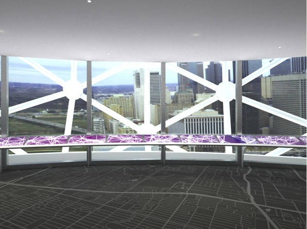 Rendering of Reunion Tower observation deck