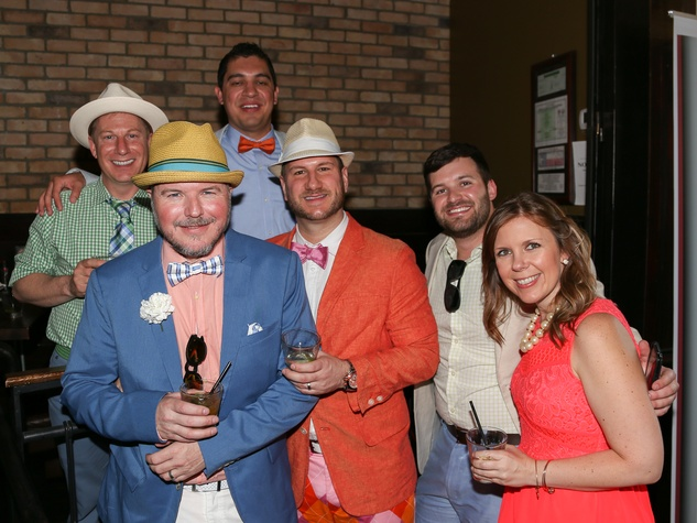 Austin Influential Group Derby Day at Ten Oak John Richey Joseph Guillory Erine Perez Tom Stanek Andrew Donilon Courtney Pett