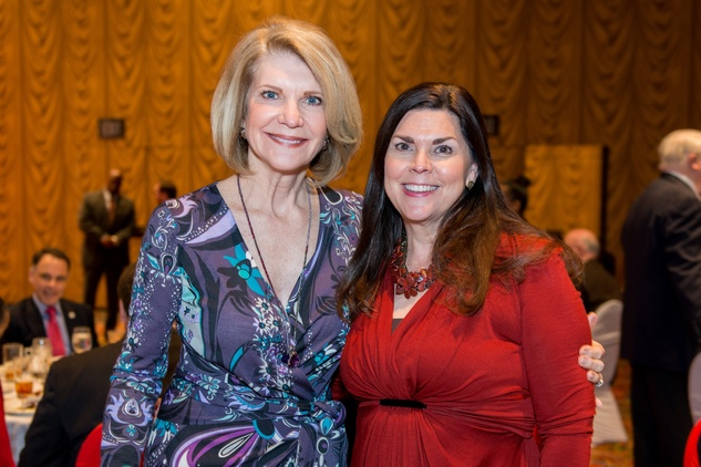 News, Shelby, Red Cross Luncheon, Feb. 2015, Kim Tutcher, Lesha Elsenbrook