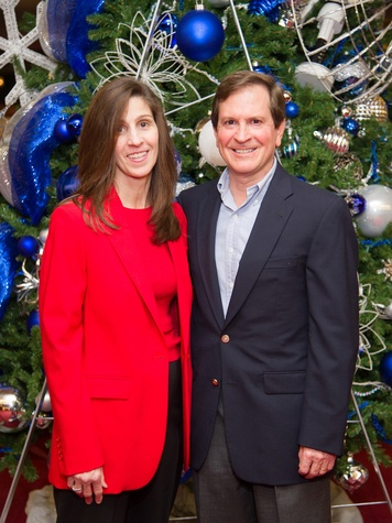 5 Barbara and Tom Gros at the Alley Theatre's Deck the Trees Celebration November 2013