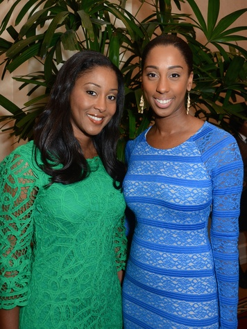 40 Venecia Dutton, left, and Shenequa Animashaun at the Houston Food Bank dinner April 2014