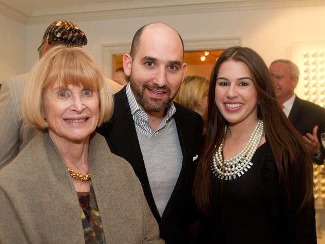 Nancy Allen, from left, Eduardo Garza and Jessica Crute at the Aga Khan Foundation presentation January 2014