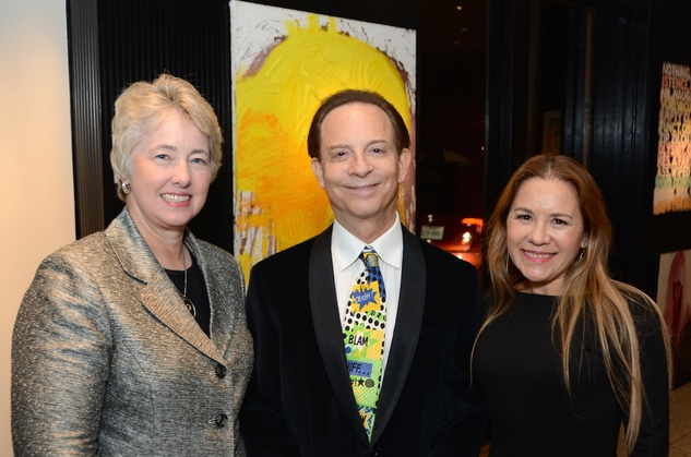 9 47 Mayor Annise Parker, left, with Lester Marks and Dr. Penelope Marks at the Rick Lowe Party December 2014