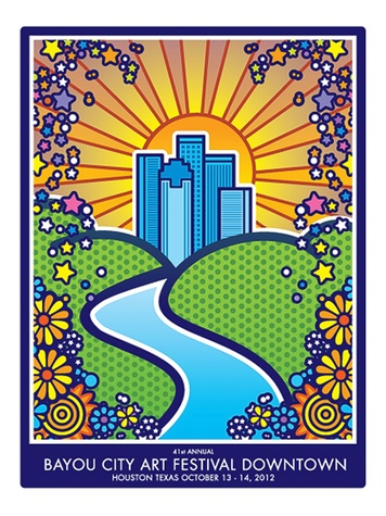 Bayou City Art Festival Downtown, poster, October 2012