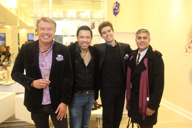 216 Carlos Castroparedes, from left, Fernando Mena, Carlos Castroparedes Jr. and Ernesto Agraz at the Uptown Blow Dry grand opening in Vintage Park March 2015