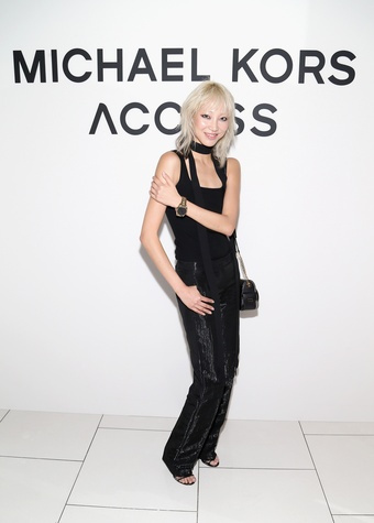 Model Soo Joo Park at Michael Kors Access party
