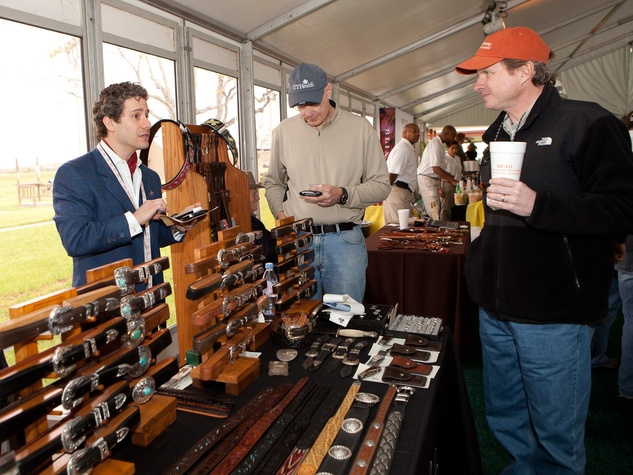 News_MFAH Sporting Clays_March 2012_Shooters enjoy the wide array of vendor booths