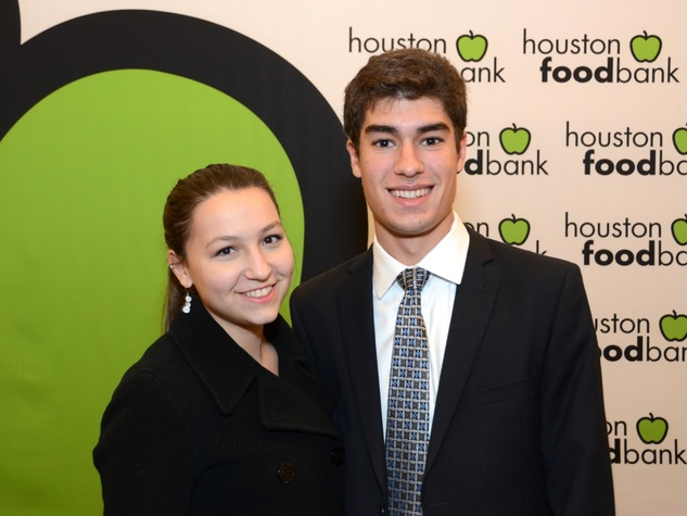 1 Olivia Arena and Noah Horwitz at the mayoral inauguration reception at the Houston Food Bank January 2014