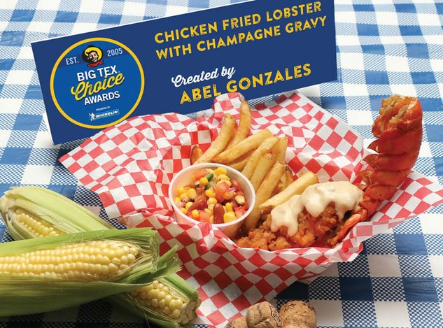 Chicken-fried lobster at the State Fair of Texas
