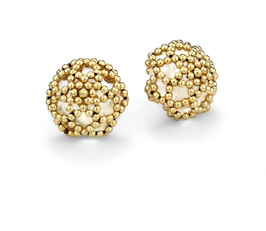Chris Davies Scheherazade netted clip earrings