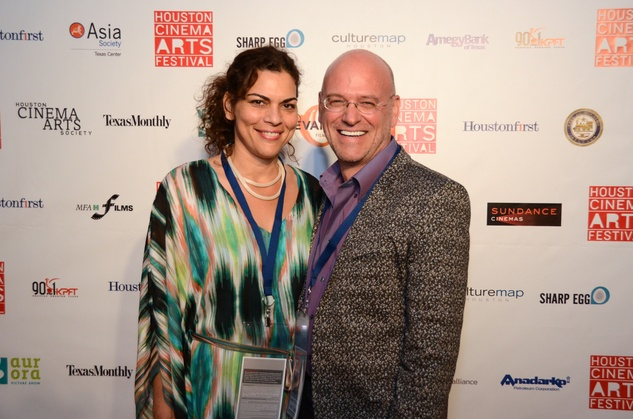 Zoya Tommy and Guus Kemp at the Houston Cinema Arts Festival opening night party November 2013