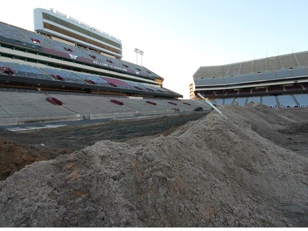 Texas A&M University Kyle Field construction Aggies