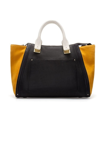 zara BOWLING BAG WITH SUEDE SIDES