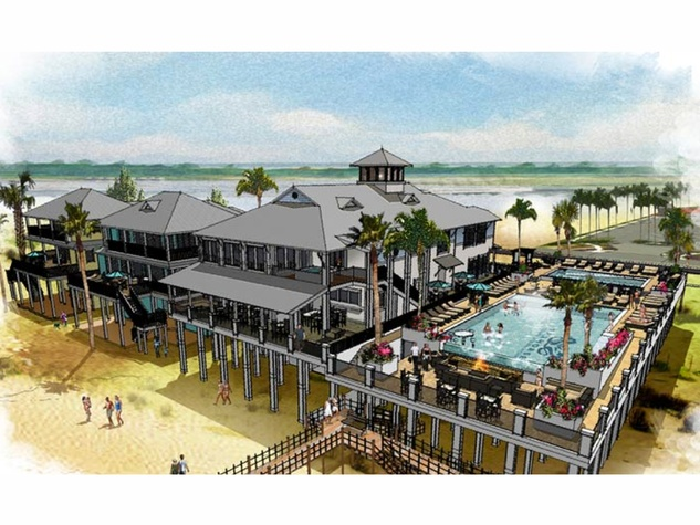 3 Seahorse Beach Club Galveston rendering club with swimming pool