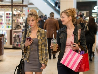 Olivia Crocicchia and Judy Greer in Men, Women & Children