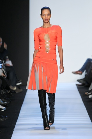 Herve Leger fall 2014 collection, look 11