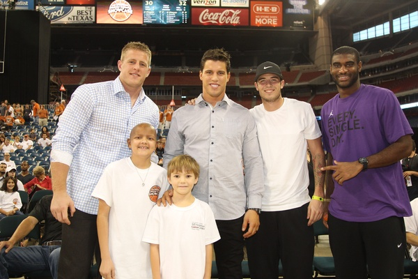MD Anderson Cancer Center_J.J. Watt_Brian Cushing_Chase Davidson_basketball