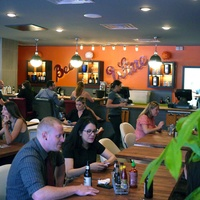 Fusion Taco Houston interior with crowd