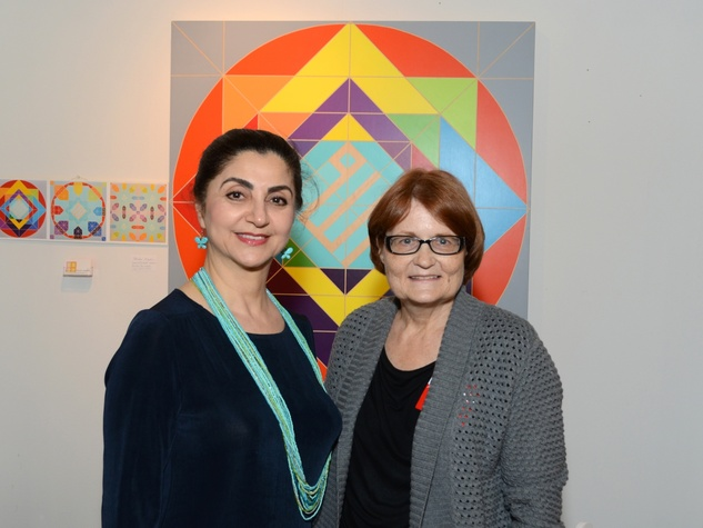 12 Fariba Abedin, left, and Janet Roe at the Texas Contemporary Art Fair VIP opening party October 2013