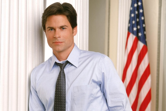 "Rob Lowe as Deputy Communications Director Sam Seaborn in ""The West Wing"