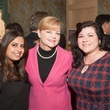 Ruchi Mukherjee, from left, Kim Padgett and Catrina Cron at the Interfaith Ministries luncheon January 2014