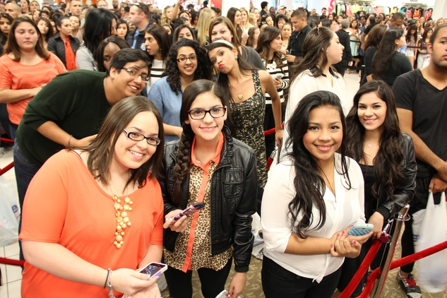 Fans wait to see Kardashians at Sears Willowbrook Mall May 2013