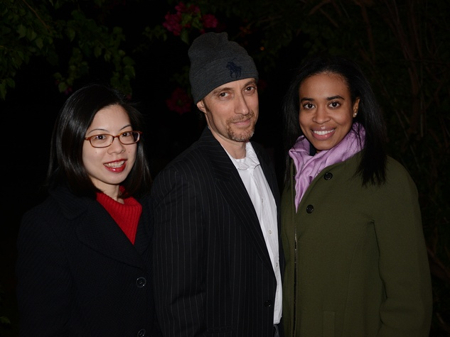 Connie Lin, from left, Corey Freundel and Hannah Thibodeaux at the Hermann Park Conservancy's Urban Green event November 2014