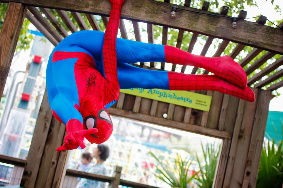 8 Children's Museum with Spiderman Appearance and Silly String Showdown August 2014