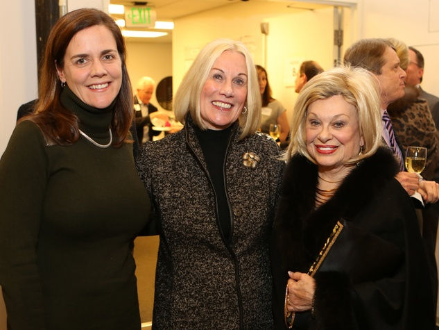 Christina Morse, from left, Elsie Eckert and Sidney Faust at the Alley Theatre Opening Night Dinner January 2014