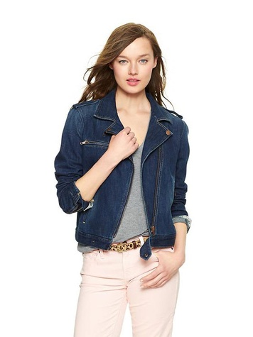 the gap 1969 denim moto jacket