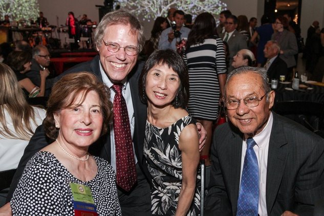 Nellie Fraga, from left, Bob Stein, Linda Toyota and Felix Fraga at the Mayor's Hispanic Heritage Awards event October 2014
