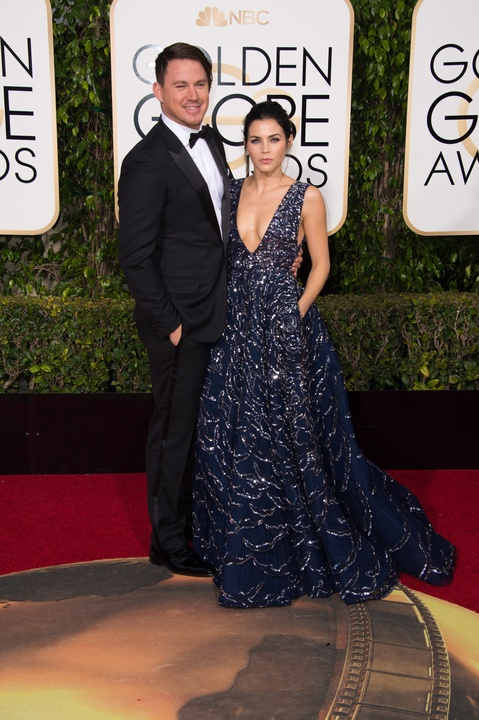 Channing Tatum and Jenna Dewan Tatum at Golden Globes