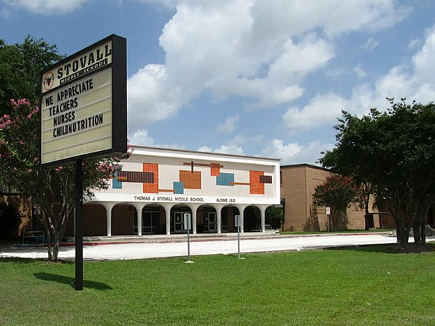 Stoval Middle School Aldine Texas exterior day